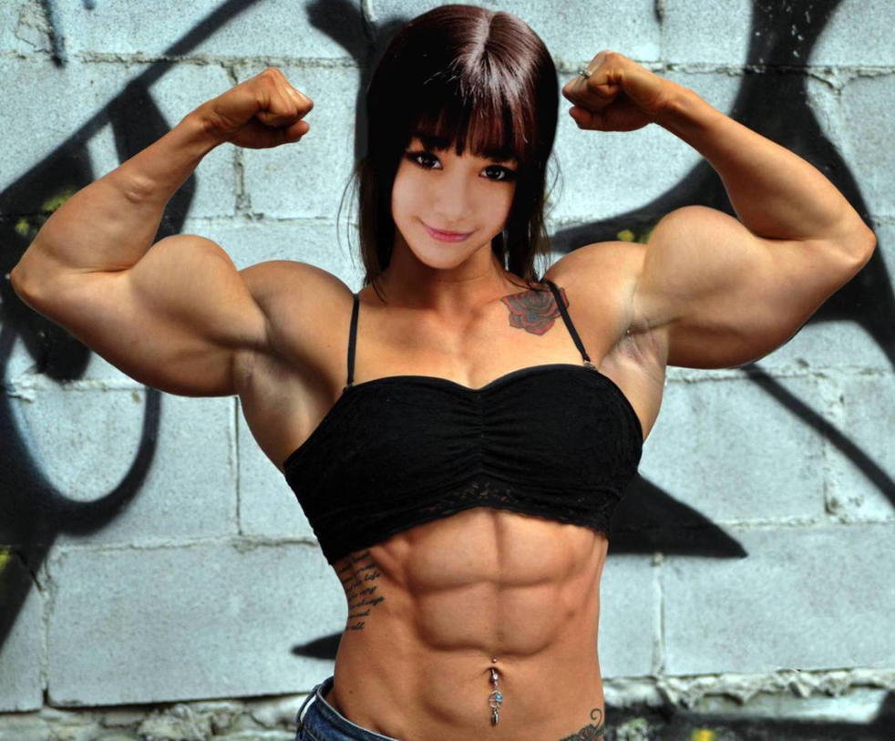 Asian muscle girl by Turbo99 on DeviantArt