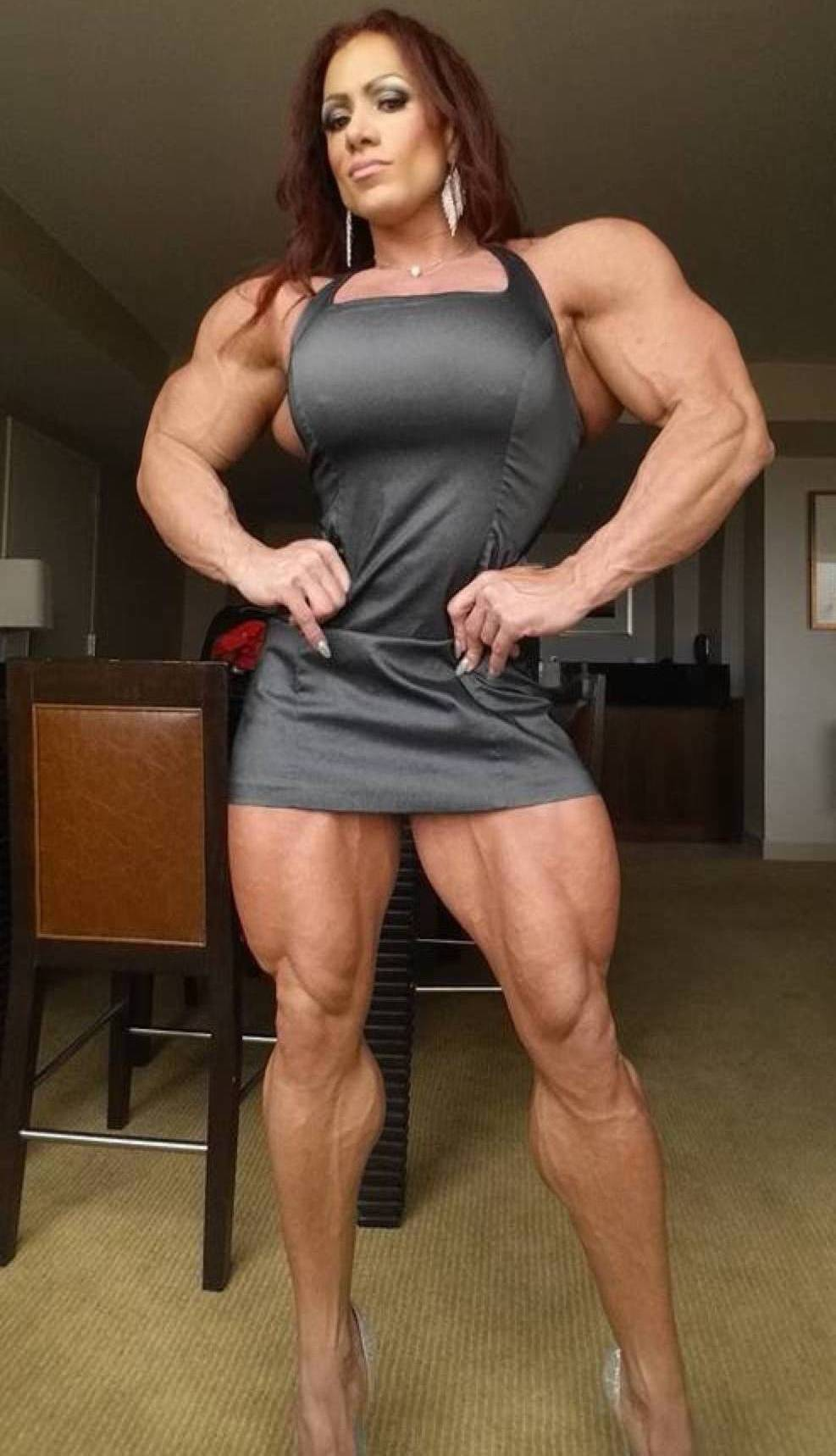 Busty mature female biceps