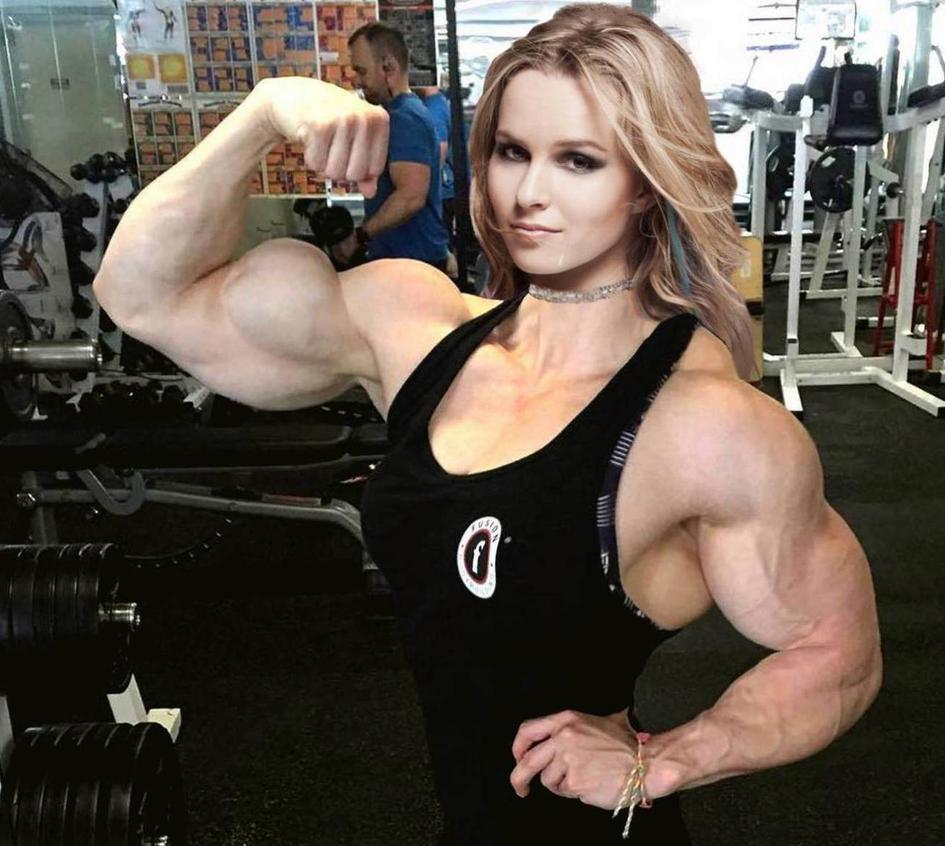 Bridgit Mendler Bulked Biceps by Turbo99