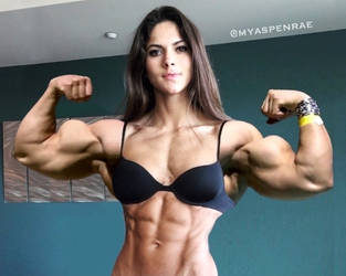 Aspen Rae Abs and Biceps Morph by Turbo99
