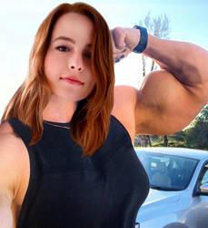 Bridgit Biceps Selfie