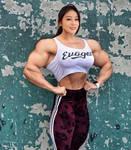 Kelshiya proud of her muscles