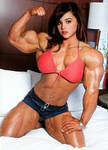 Brunette with Biceps