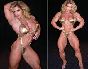 Gold Muscle Girl