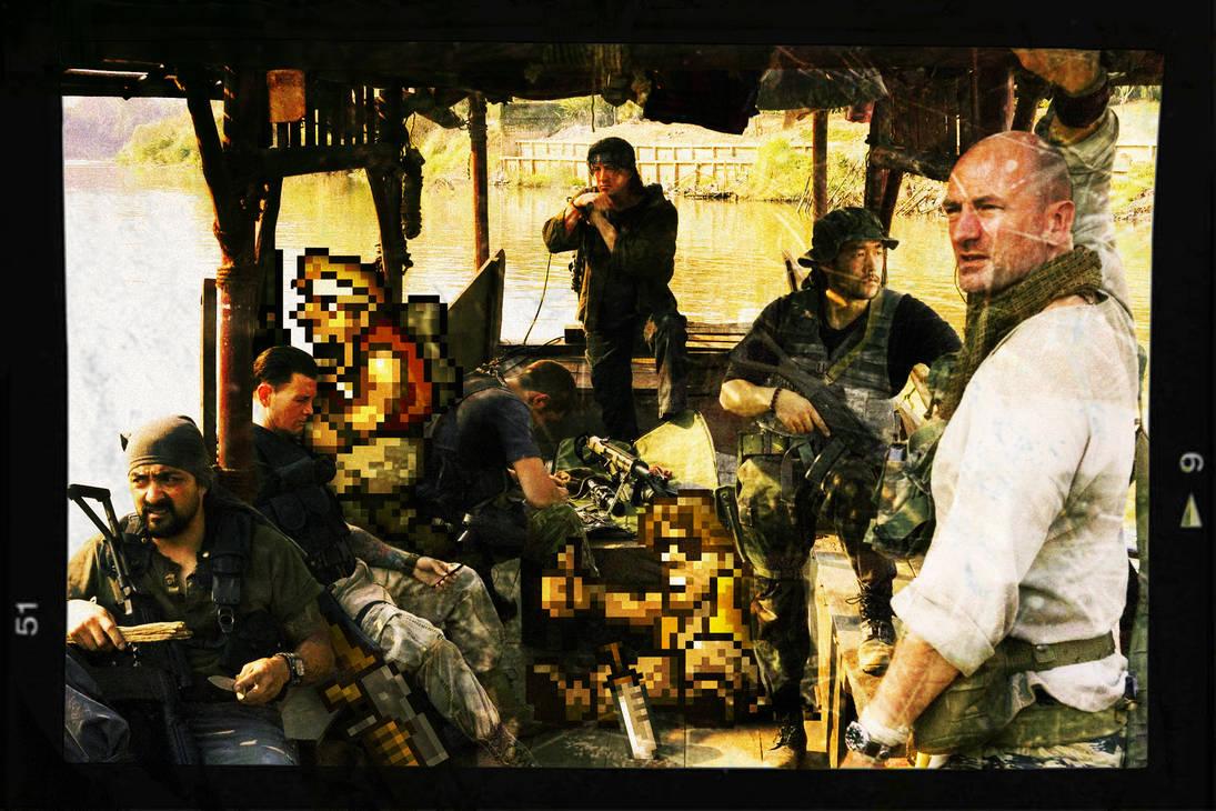 Rambo meet the metal slug team by bdomenech