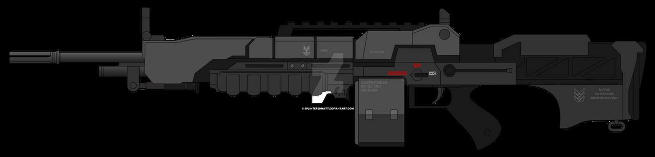 M73 machine gun by SplinteredMatt