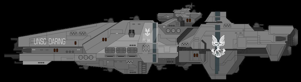 Daring-class frigate by SplinteredMatt