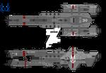 Halo UNSC Warrior-class destroyer