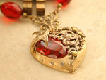 Romantic Victorian Heart Necklace