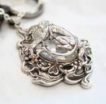Gothic Dragon Crystal Necklace by byrdldy