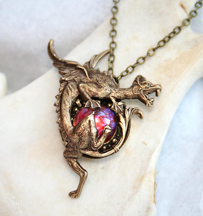 Dragons breath opal necklace by byrdldy on deviantart dragons breath opal necklace by byrdldy aloadofball Gallery
