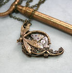 Victorian Steampunk Dragonfly Necklace