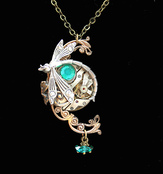 Victorian Steampunk Dragonfly Necklace Variation by ...
