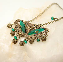 Deco Filigree in Emerald by byrdldy