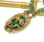 Gothic Necklace Emerald Dragon