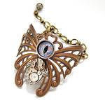 Steampunk Bracelet Eye Love Butterflies