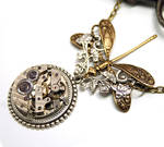 Time to Fly Steampunk Necklace