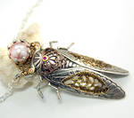 Return Of The Locust Art Nouveau Necklace