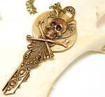 Gothic Necklace Skeleton Key