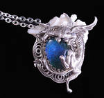 Gothic Dragon Mood Stone Necklace
