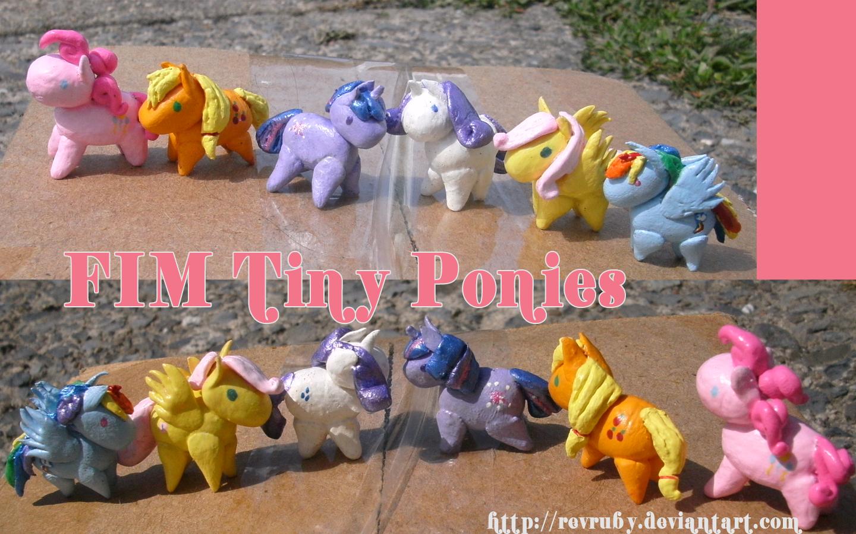 FIM tiny ponies by RevRuby