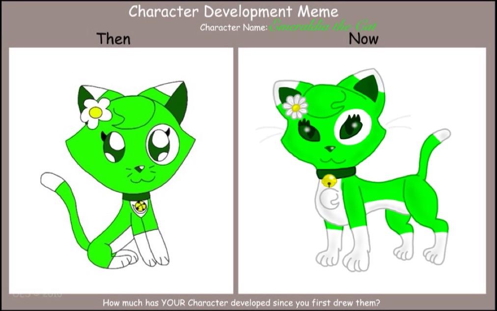 Then vs Now: Emeraldia the Cat by Emeraldia-the-Kitty