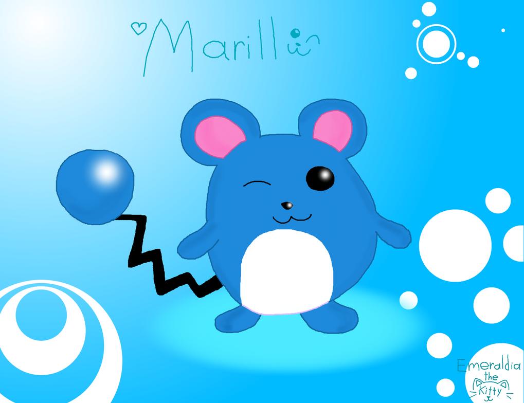 Marill by Emeraldia-the-Kitty