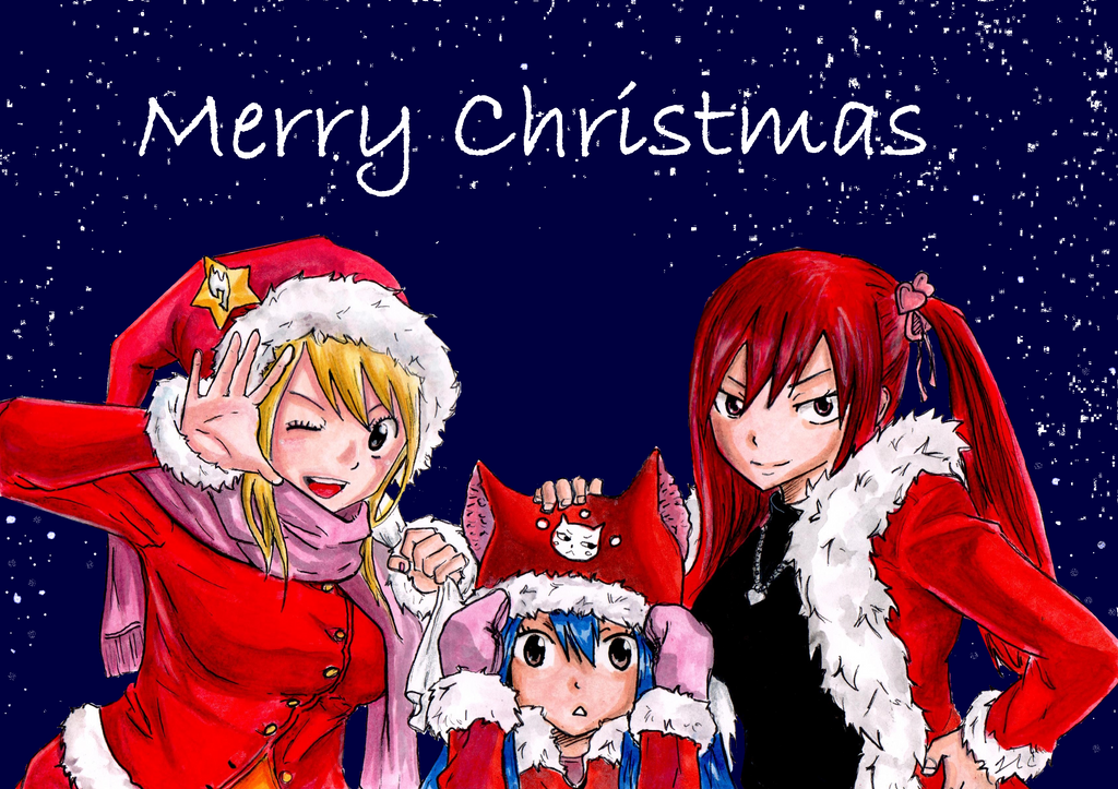 fairy tail anime christmas wallpaper - photo #5