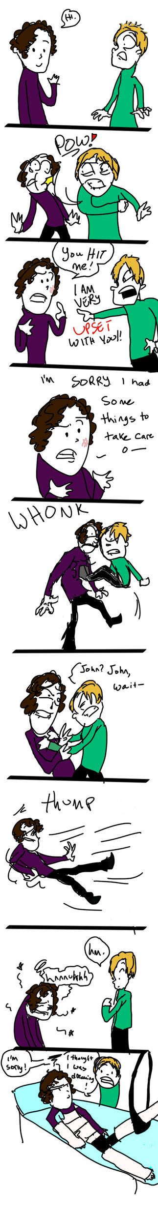 Sherlock - Excuse me while I punch you by accidentprone392