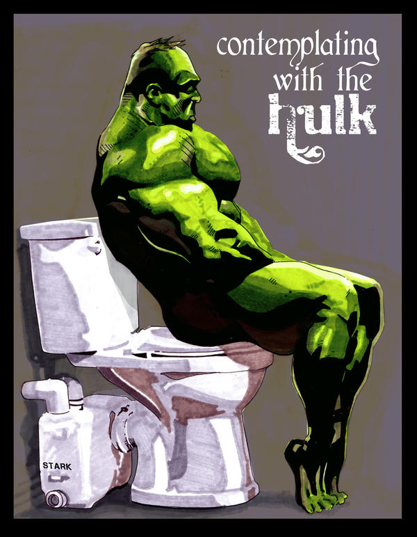 contemplating with the hulk by tonytorrid
