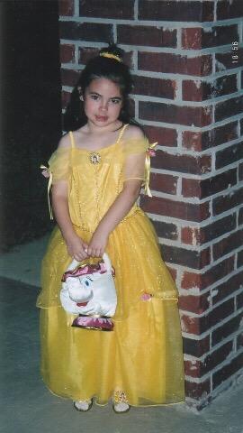 Me as Belle on Halloween  by waterbender412