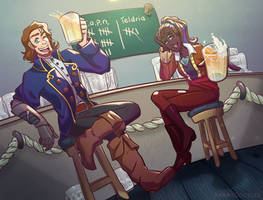 Drinking Contest! by AdamsDoodles