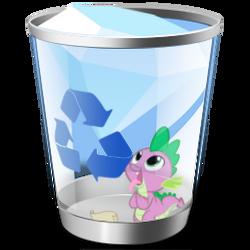Spike Recycle Bin Icon (Full)