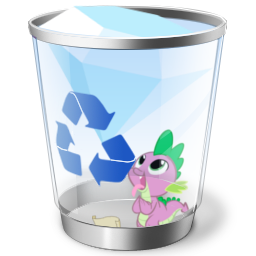 Spike Recycle Bin Icon (Full) by rileystrickland