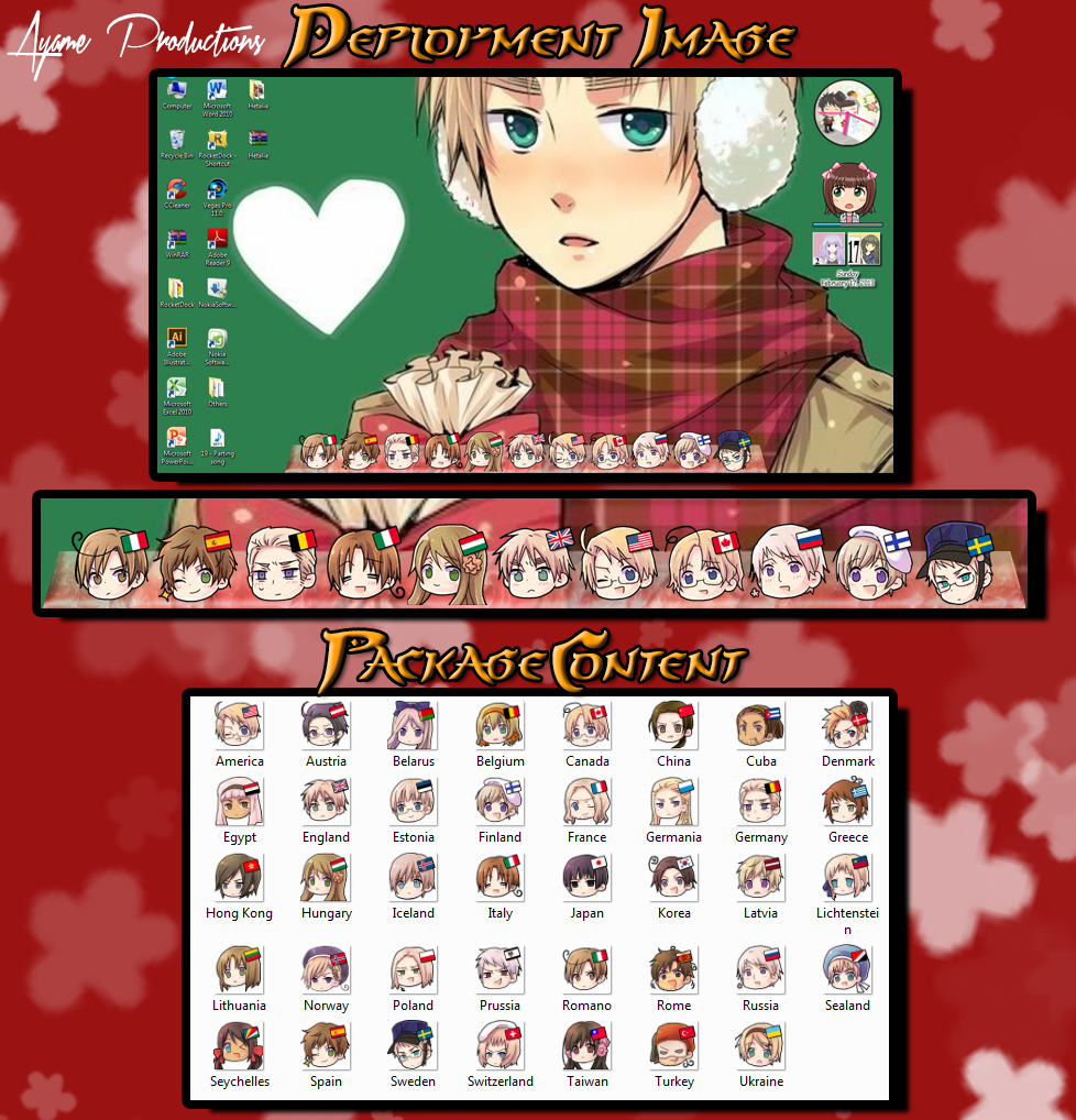 Hetalia Rocket Dock Icons by ayame-san16