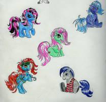 More Little Ponies by Weretiger101