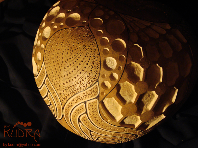 Zentangle Gourd Lamp by bykudra on DeviantArt