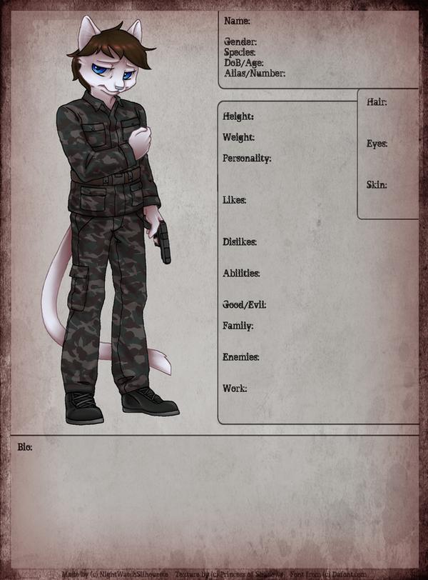 Matthew Character sheet by GumandPeanuts17