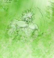 DragonBallZ - Broly the Legendary Super Sayian by 1Jeebus