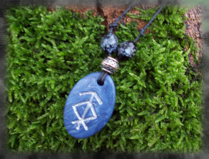 Rune Pendant - Protection by Eldessia