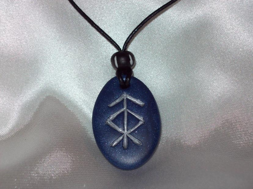 Rune Pendant - Protection 2 by Eldessia