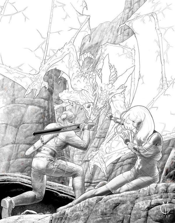 Dragonero #14 W.I.P. 2 by GiuseppeMatteoni