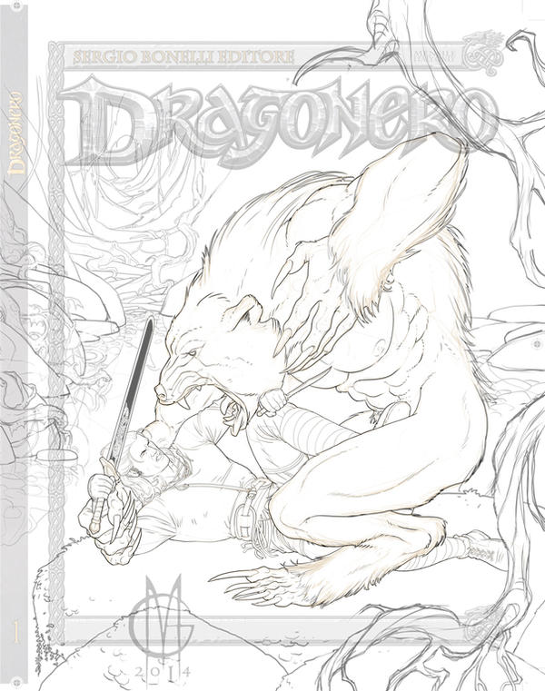 Dragonero #23, Inks by GiuseppeMatteoni