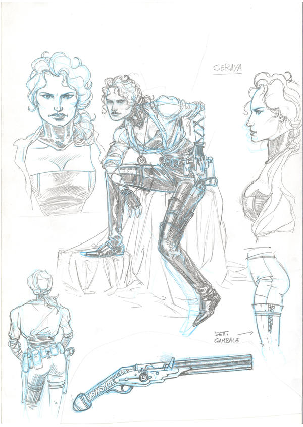 Myrva model sheet by GiuseppeMatteoni