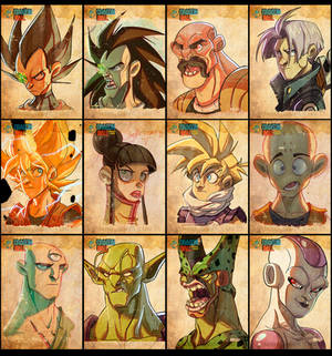 Dragon Ball Face Sketches