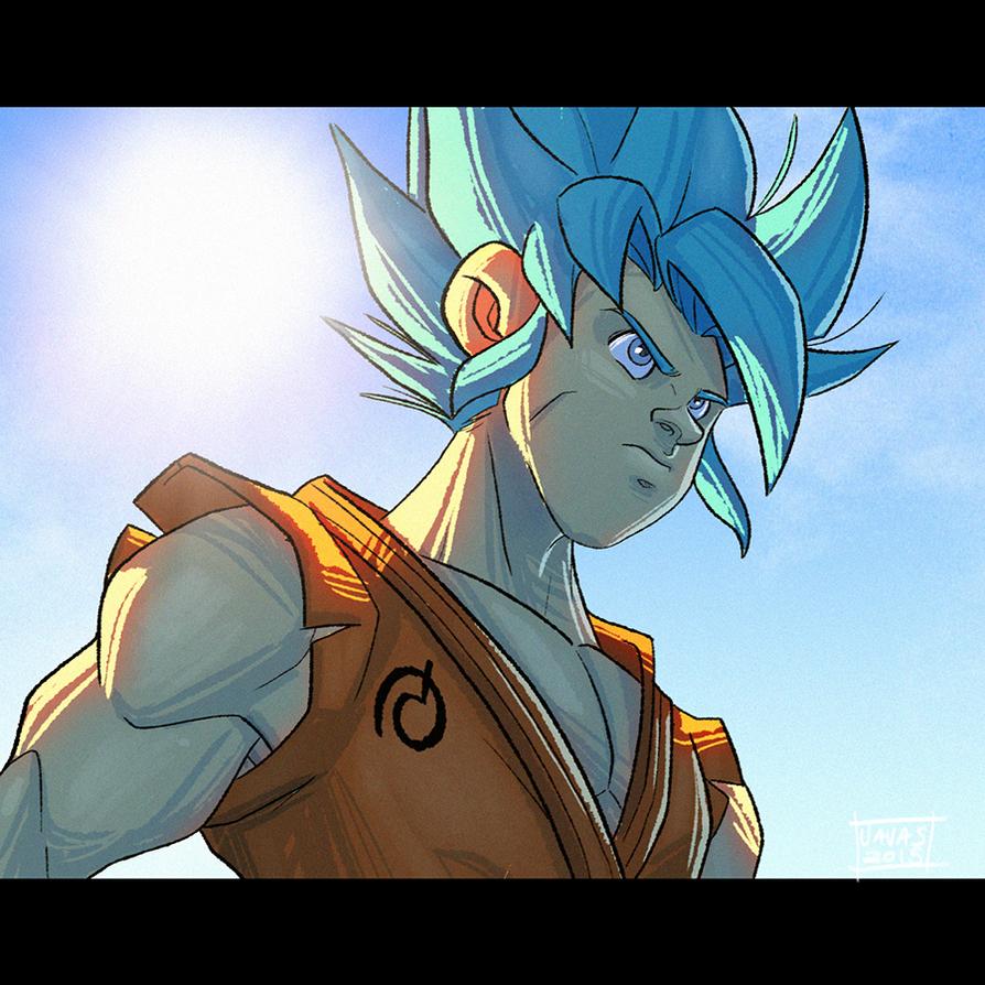 Goku SSJGod by Javas