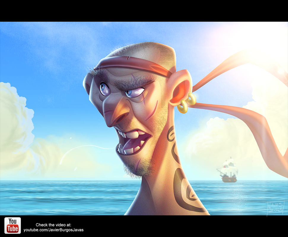 Pirate Speedpainting by Javas