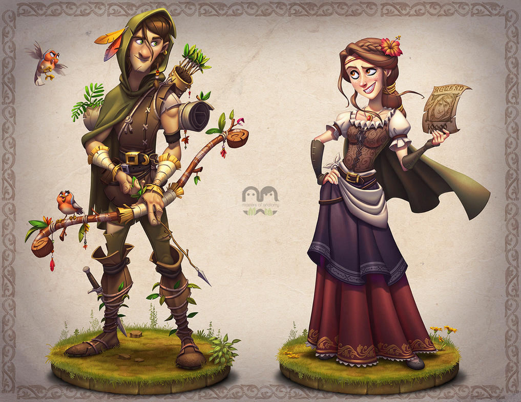 Character Design Master Class : Robin and marian by javas on deviantart