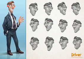 Driver Character Design by Javas