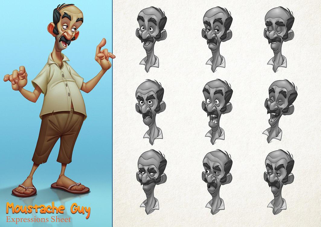 Moustache Guy by Javas